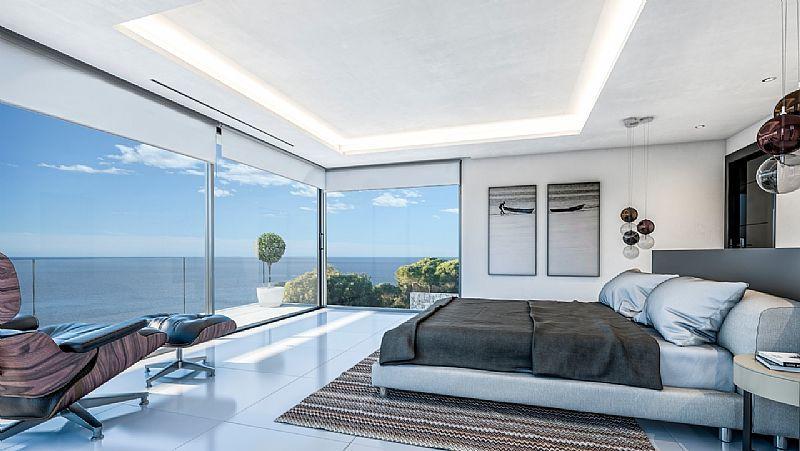 Nieuwbouw Villa moderne stijl te koop met uitzicht op zee-Javea