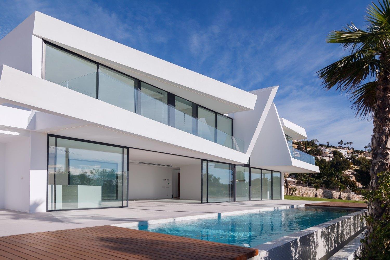 Moderne stijl villa van nieuwbouw te koop in Moraira met uitzicht op zee