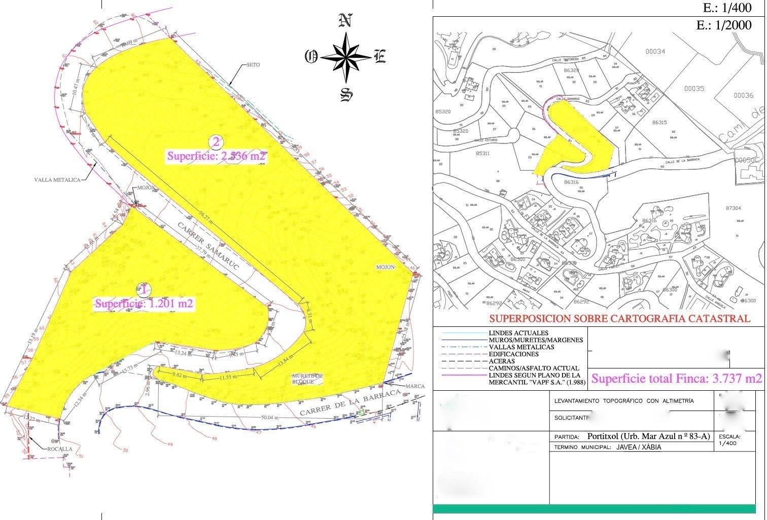 Perceel te koop in Urbanisatie Mar Azul - Portichol - Javea